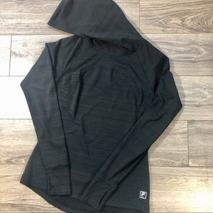 Fila sport pullover hoodie black with gray